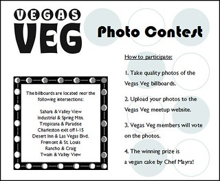 Vegas Veg billboard photo contest