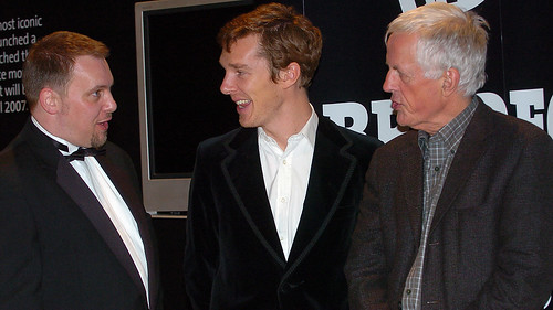 BIFF 2007 Opening Night - Tony Earnshaw, BIFF Director, Michael Apted & Benedict Cumberbatch