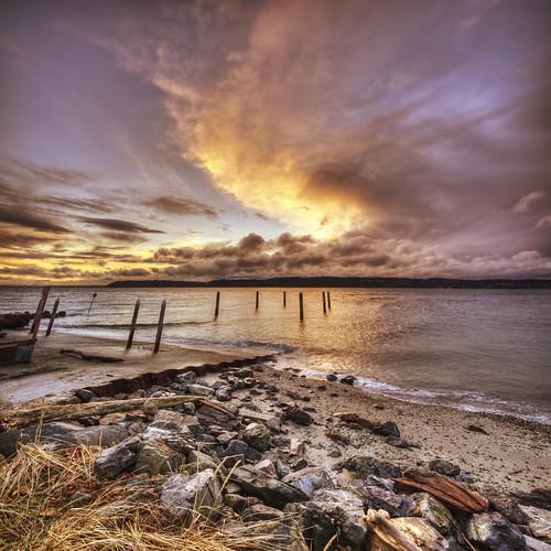 park sunset beach clouds pugetsound washingtonstate hdr verticalpanorama mukilteo nikond90