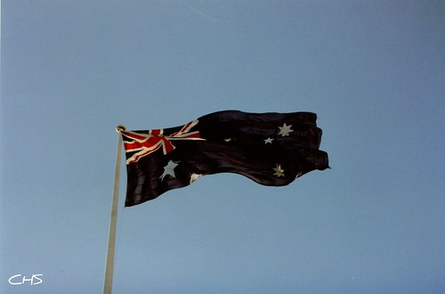 Flag, Darling Harbour, 2nd June 1990 - Australia 1990 - Photo 005 by Stocker Images