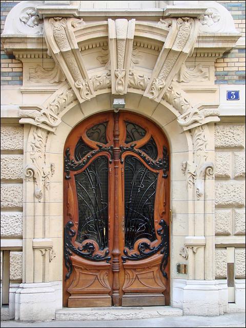 porte d 39 entr e d 39 un immeuble art nouveau de jules lavirott flickr photo sharing. Black Bedroom Furniture Sets. Home Design Ideas