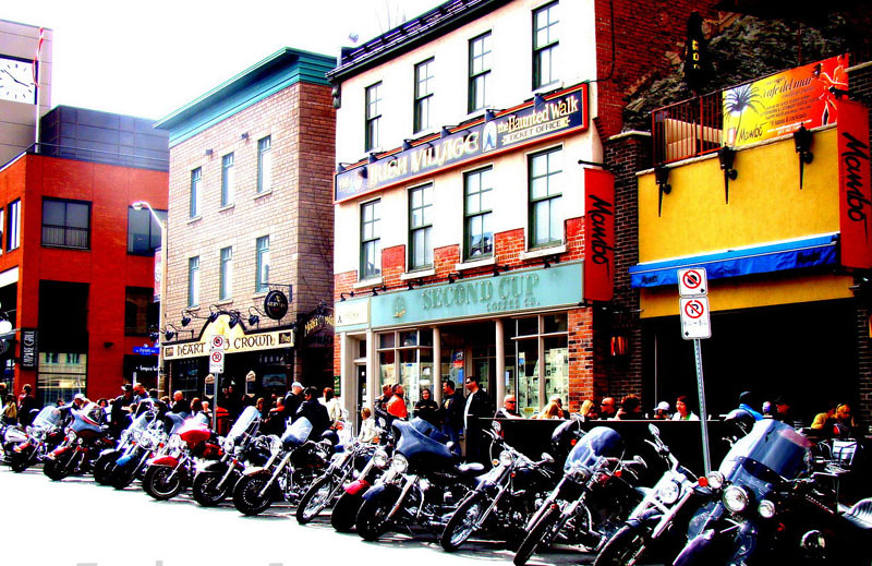 picture of motorcycles on main street
