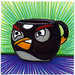 I drew you a black Angry Bird of Coffee