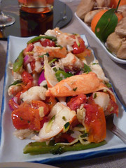 hors d'oeuvre(0.0), shrimp(0.0), bruschetta(0.0), invertebrate(0.0), scampi(0.0), meal(1.0), ceviche(1.0), salad(1.0), seafood(1.0), produce(1.0), food(1.0), dish(1.0), cuisine(1.0),