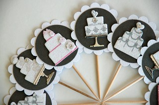 Bridal shower/wedding cupcake toppers