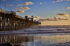Sunset at O'Side Pier 3-21-11