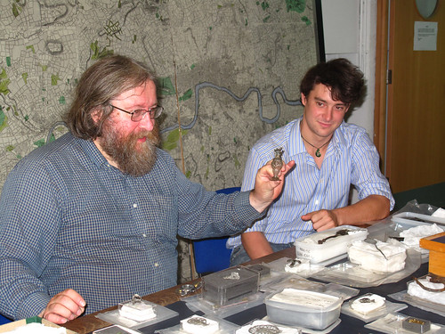 Geoff Egan teaching about small finds
