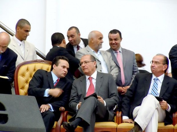 Pastor Samuel Ferreira, Governador Geraldo Alckmin e Senador Aloysio Nunes