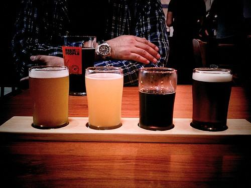 Beer flight at Eagle Rock Brew Co.