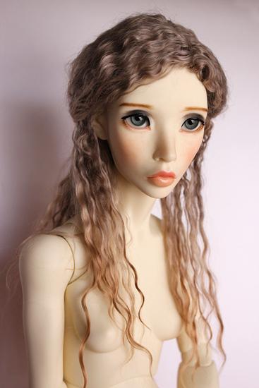 Angora goat mohair wig