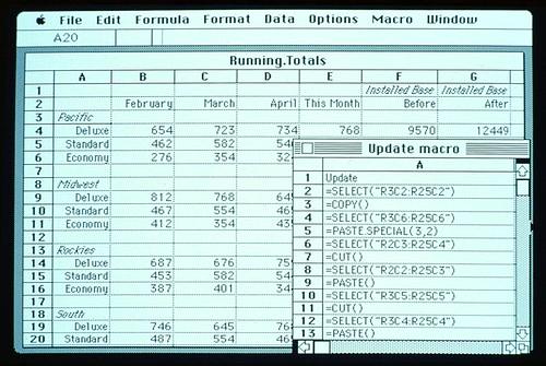Excel for Macintosh Screenshot ca. 1986