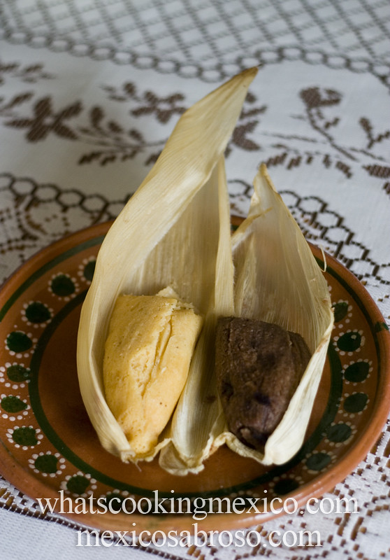 Pineapple and chocolate tamales