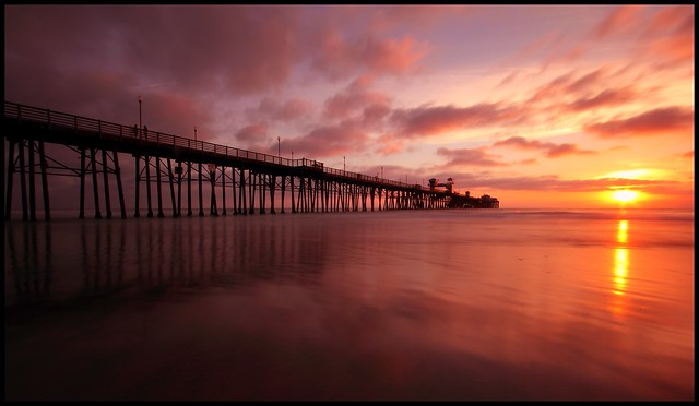 Sunset at the Oceanside Pier (Explored)