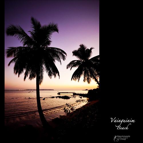 travel sunset sea vacation orange india holiday beach relax evening pier nikon quiet escape purple goa dream romanticism nikond7000 dhmig dhmigphotography vainquinimbeach