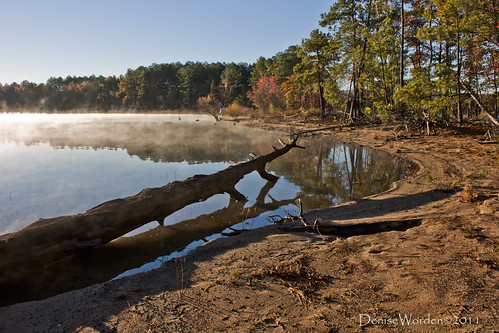 morning autumn light lake fall water fog sunrise canon nc northcarolina denise jordanlake worden 450d deniseworden
