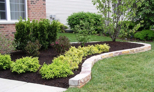 Curved natural stone edging flickr photo sharing - Natural stone garden edging ...