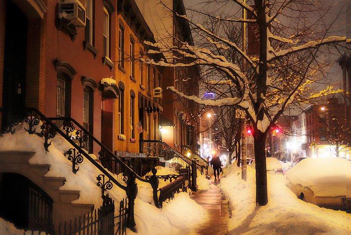 West Village Winter Scene