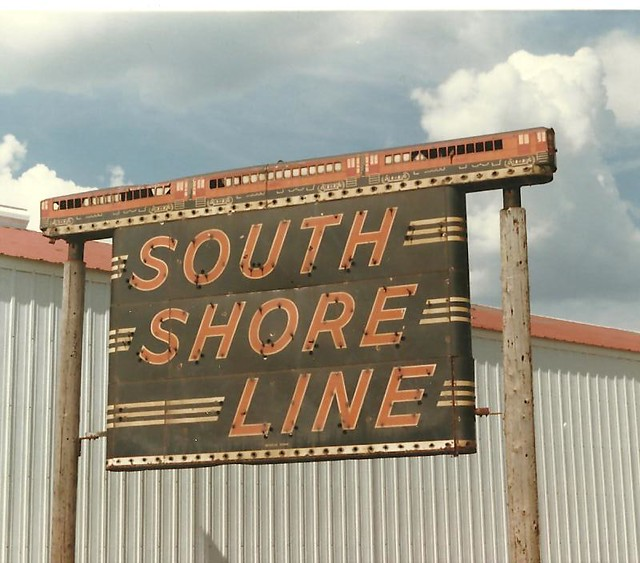 Old South Shore Line sign now at IRM.