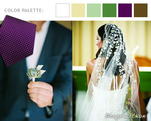A Modern Vintage Mexico Wedding Colors Purple Brown Greens Ivory