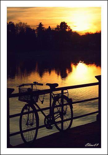 canon river ticino tramonto fiume sole acqua varese controluce bicicletta sestocalende 21018