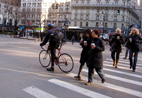 Rule #1:When crossing the street in Manhattan, you MUST carry a cup of coffee.