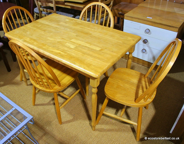 dining table pine dining table and 4 chairs