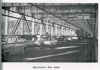 Eastbound Bay Bridge Exclusive Bus Lane (1963)