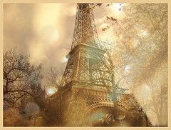 France: layer, texture, multiple exposure