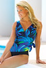 Smoothing Darling Side Tie Surplice Swimsuit by Longitude®