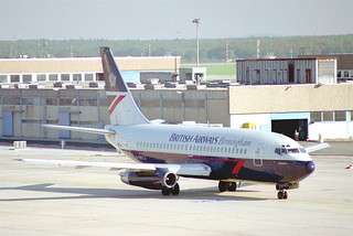 British Airways Boeing 737-236; G-BKYJ@FRA;10.10.1995