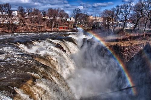 newjersey rainbow greatfalls nj paterson doublerainbow hdr passaicriver nikond90