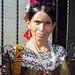 Woman in formal dress - Mujer en ropa formal; Fiesta del pueblo, Joyabaj, El Quiché, Guatemala