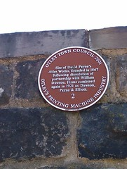 Photo of David Payne and Atlas Works, Otley brown plaque
