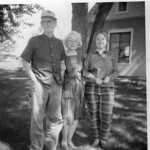 My Uncle Jim and Aunt Dort in mid-60s, Dunlap, Missouri. My wife is standing next to Aunt Dort.