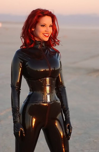 Bianca Beauchamp In Latex Catsuit And Corset
