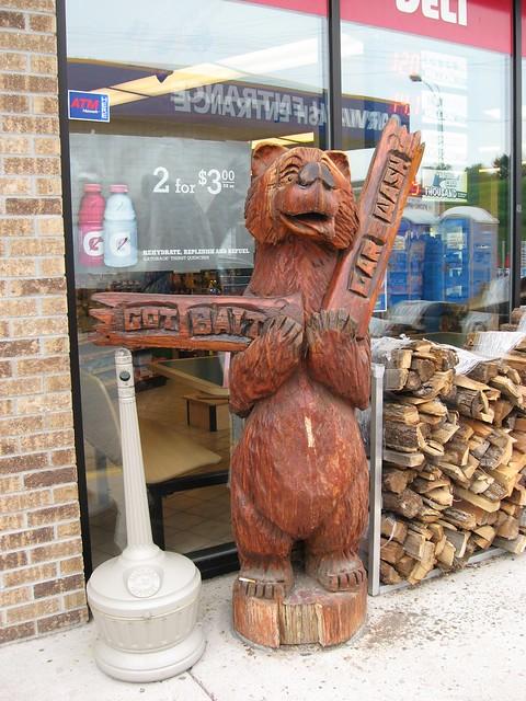 Chain saw carved bear detroit lakes minnesota