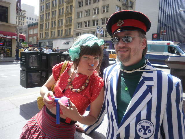 ST STUPID'S DAY PARADE in SAN FRANCISCO- cute couple