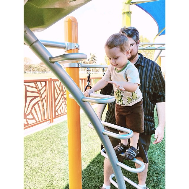 #pictapgo_app baby daredevil likes to climb! He could've done this all morning! #playground #cityoftamarac #tamarac