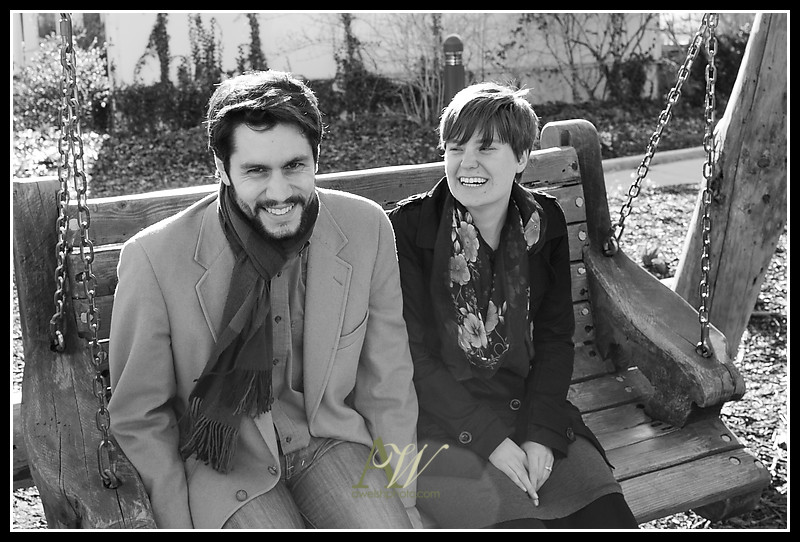 engagement couple photo photography Rochester NY Andrew Welsh Alex Deb Highland Park swing