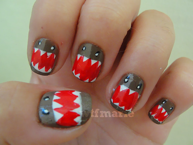 monster crazy nail art