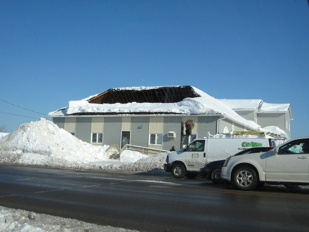 Roof collapse due to snow load