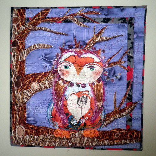 ENTRY Project QUILTING - Be My Valentine Challenge Entry - Owl Be Yours