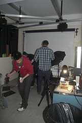 MSc students working in the studio