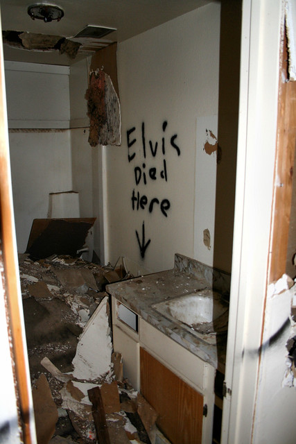 Elvis Death Photo Bathroom for Pinterest