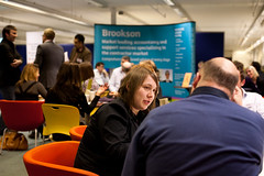Networking at Manchester Freelance Fair, Feb 2011