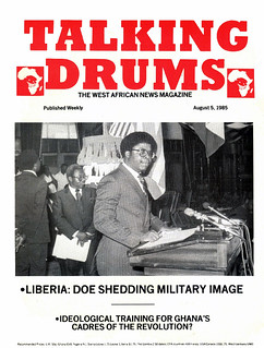 talking drums 1985-08-05 Liberia Doe shedding military image