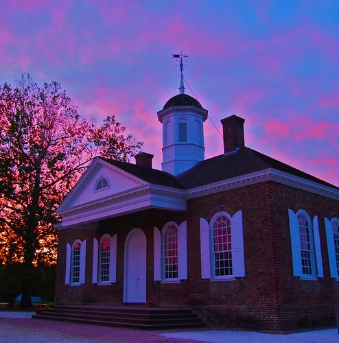 sunset virginia day cloudy dusk williamsburg colonialwilliamsburg courthouse