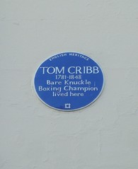 Photo of Tom Cribb blue plaque
