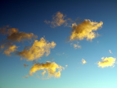 cumulus, cloud, yellow, sunlight, daytime, morning, sky, dusk, dawn, sunset, sunrise, afterglow,