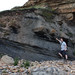 Coal and clay strata below Carboniferous sandstone, near Crail, Fife. by Shandchem
